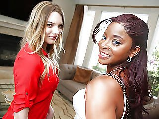 Interracial Lesbian Sex With Kenna James Jasmine Webb