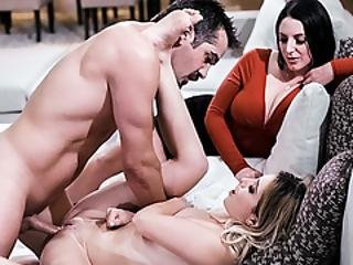 Angela Joins The Couple To Achieve One Orgasm