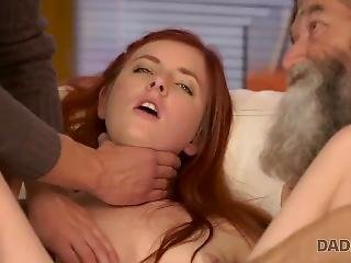 Daddy4k. Mature Dad Of Boyfriend Tastes Teen Pussy And Penetrates It