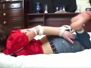 Hogtied On Bed