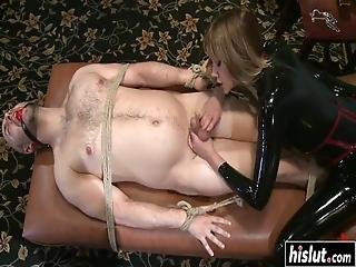 Madeline Fucks A Guy With A Strap-on Before She Starts Riding His Dick