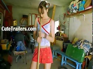 The Most Erotic Garage Girl Masturbate