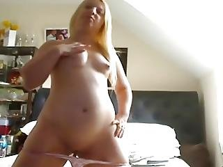 Younc Blonde Chubby Teen Showing Her Body And Pink Pussy