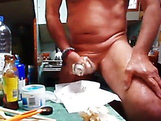 Stor Cock, Numse, Fetish, Mad, Køkken, Pik, Spanker, Hvid