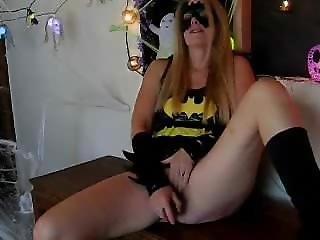 Laurie Smith Batgirl Dildo Play Alone
