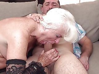 pijp, oma, volwassen, oud, sex, kous, jong