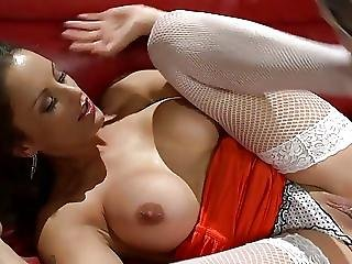 Valentina Drinks Cum From One Rod And Get The Other Deliver Via Her Slit