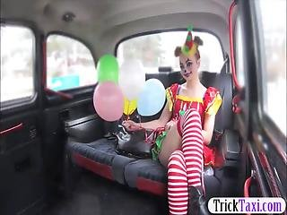 Sweet Girl In Costume Likes Drivers Cock In Her Pussy