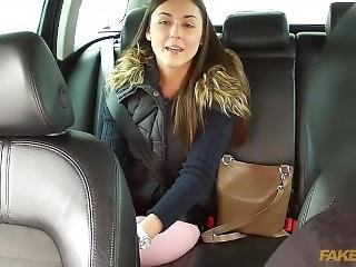 Cute Girl Iwia Fucking On The Back Seat - Faketaxi. Super Hot.