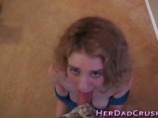 Blonde Stepteen Gives Bj