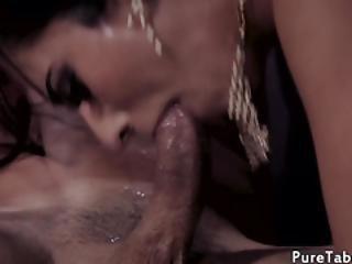 18yo Babe Facialized During Kinky Threeway