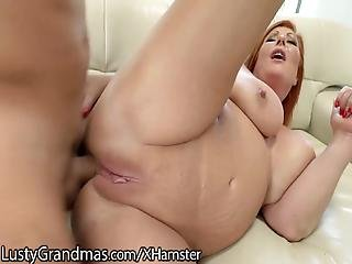Lustygrandmas Curvy Red Cougar S Asshole Gets Hammered