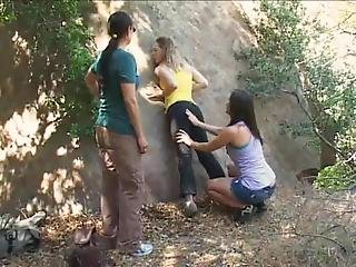Trespassing Lily Labeau Gets Caught & Punished