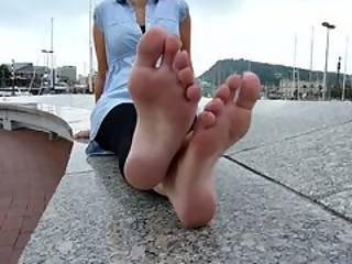 Beautiful Feet With Painted Toenails