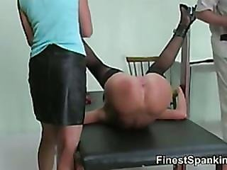 Severe Breast Whipping Domination