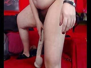 dildo, ruchanie, got, owłosiona, wielkie dildo, masturbacja, szczyny, cipka