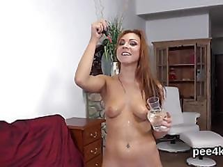 Flawless Teen Is Pissing And Finger Fucking Trimmed Cunt