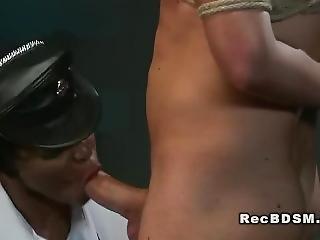 Hot Ebony Mistress In Interracial Femdom