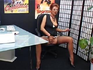 Milf Secretary Smokes