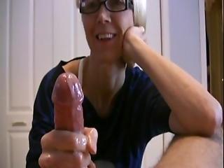 Mature Wife Jerks Husbands Cock Last Of It Slowmotion
