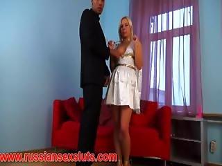 Small Blonde Dulseniya Taken By Big Black Guy