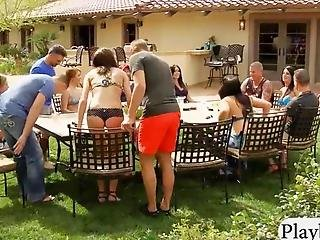 Horny Swingers Fucking And Sucking In Playboys Mansion