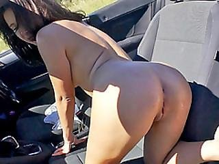 Hitchhiker Gfs Ends Up Fucked In Public By A Lucky Stranger
