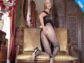Mona In Pantyhose And Black Dress