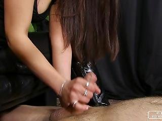 Handjob - Milking On The Sofa