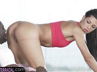 Gym Bunny Babe Craves Big Black Cock
