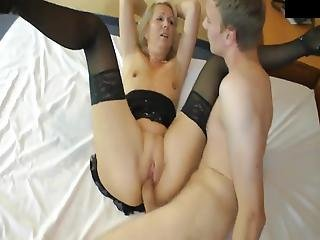 Teen Boy With Big Dick Trying To Fuck Shameless Mature Milf