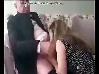 Turkish Milf Sucks Off Old Grandpa