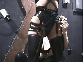 Hot Chick In Mask And Rubber Gets Tortured?s=4