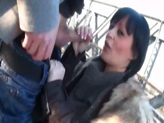 Gina A French Brunette Gangbanged