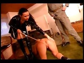 Slave Girl Pleasing A Dominant Couple
