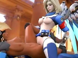 Mercy X Pharah Overwatch (sfm Animation) Uprising Skin