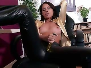 Jess In Leather Pants Teasing