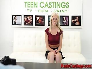 Brutal Casting Audition For Teenage Babe