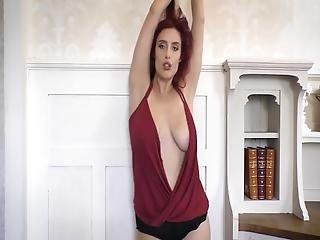 Shameless - British Redhead With Floppy Tits, Dance Tease