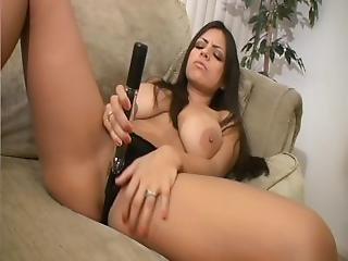 Babe Masturbates For The Camera