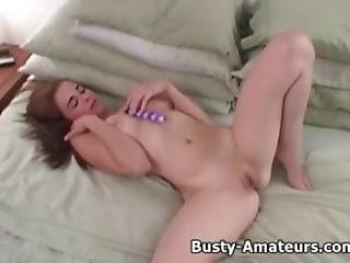 Busty Holly Playing Her Tits And Pussy
