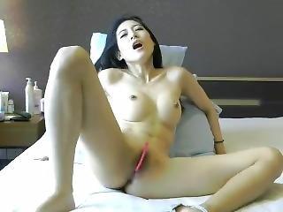 Asian Cam Girl Has An Intense Orgasm