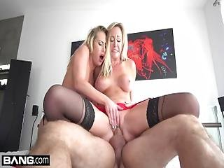 Brett Rossi %26 Carter Cruise Fuck In Raw Threesome Sex Tape