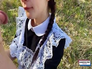Hot Teen School Girl Blowjob And Fucked At Outdoor