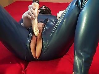 Catsuit, Dildo, Latex