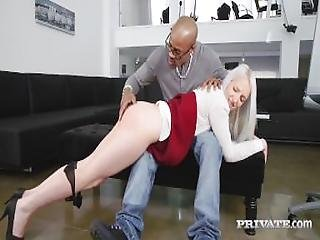 Naughty School Girl Liz Rainbow Gets Some Interracial Ass Play