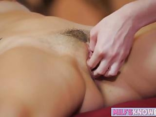 Hot Lesbians Crystal And Joseline Playing With Their Pussies