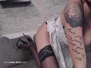 Sexy Teen Girl Ninadevil In Nylons Und Higheels