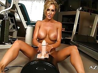 Sexy Blonde Milf Rides Sybian And Cums Hard