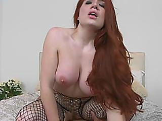 Redhead Milf Veronica Gives Head And Rides Cock